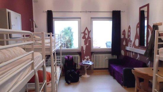 Backpackers Bamberg: Foto do quarto que eu fiquei