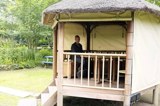 Viv's Tea Garden: The thatched hut was perfect for getting out of the sunshine