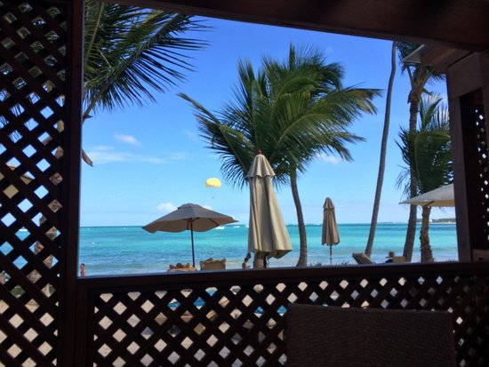 VIK Hotel Cayena Beach: View from the Cayena Restaurant (for Breakfast and Lunch)