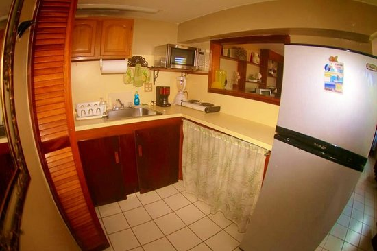 Desecheo Inn: Island Room Kitchen