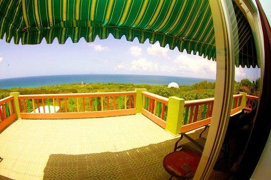 Desecheo Inn: Reef Room Back Balcony