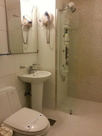 M. Biz Hotel: Toilet & Bathroom facilities w/ hairdryer