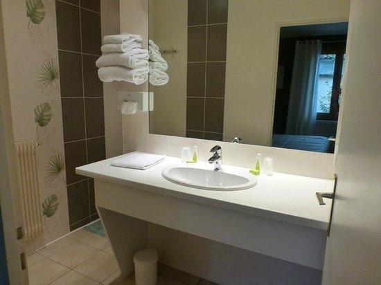 Hotel de Bourgogne: Dusche