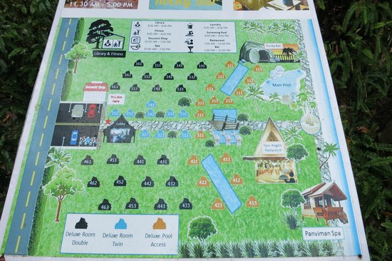 Santhiya Tree Koh Chang Resort: Property map