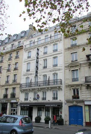 Street view from my 5th floor room picture of hotel for Hotel boulevard richard lenoir paris