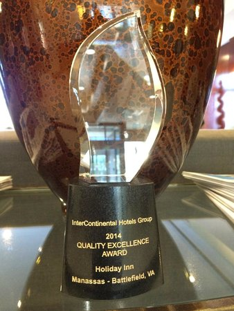 Holiday Inn Manassas - Battlefield: 2014 Quality Excellence Award