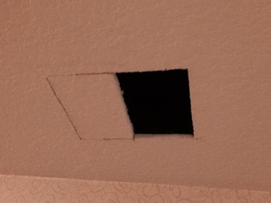 Best Western Plus Newport Mesa Inn : Holes being cut in ceiling directly in front of my room in the morning