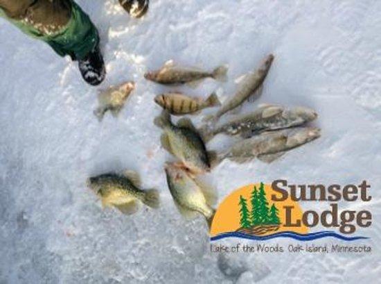 Ice Fishing Picture Of Sunset Lodge Oak Island Tripadvisor