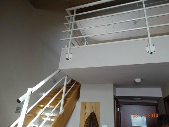 Hotel Verviers Van der Valk : kamer naar boven