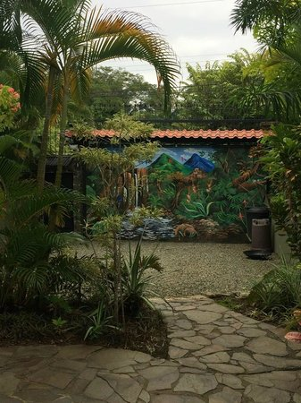 Villas Oasis: Mural on Entry Gate
