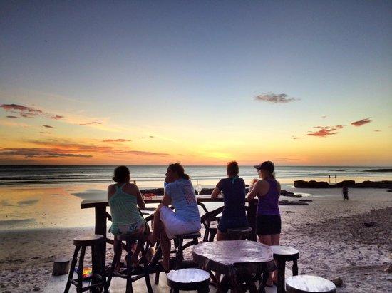 Chica Brava Surf Retreat: Watching sunset with the girls at Playa Maderas
