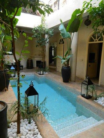 Riad O: Zwembad