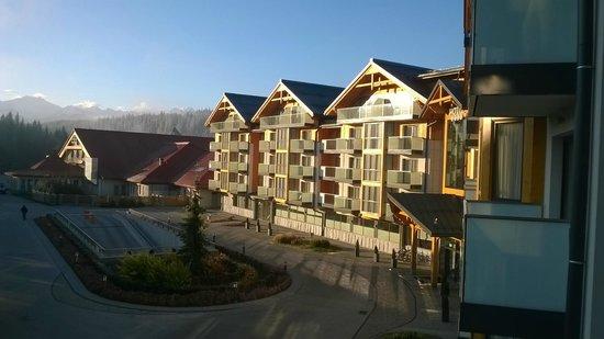 Hotel BUKOVINA: widok z balkonu