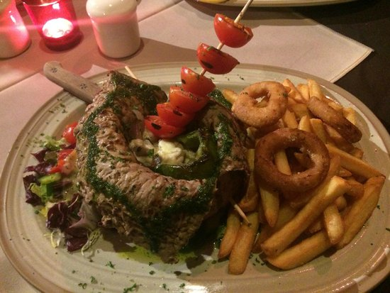 Calico Jack Restaurant & Bar: Steak wrapped round pepper - can't remember the name on the menu!