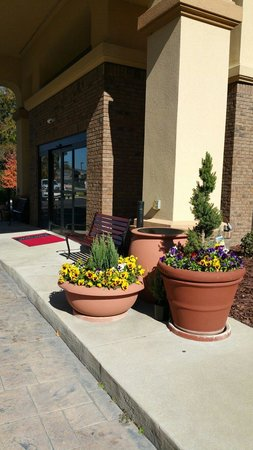 Hampton Inn Spring Lake-Ft. Bragg: Welcoming flowers