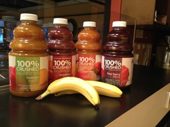 The Beanery Cafe: We only use 100% crushed fruit for our smoothies and you can add fresh banana!