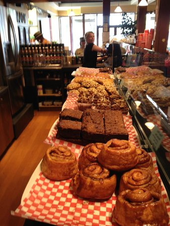The Beanery Cafe: Lots of fresh baking to choose....
