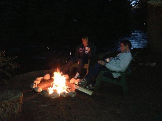 River Spruce: Enjoy your own fire pit