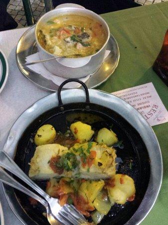Restaurante Cervejaria Pinoquio: Arroz de bacalhau com gambas e bacalhau de forno