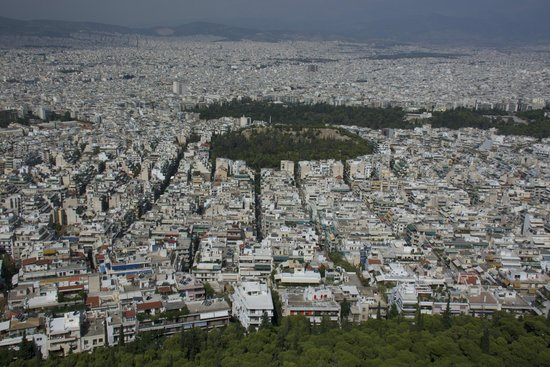 Spiros Taxi & Tours : View From Lycabettus Hill