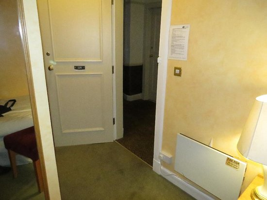 The Pitlochry Hydro Hotel: Opening the door to let the heat in.