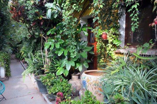 Las Golondrinas : pathways leading to rooms