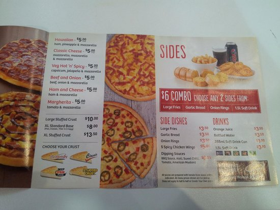 Pizza Hut Taupo menu - Picture of Pizza Hut Taupo, Taupo ...