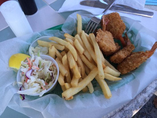 Jaycee Park Seaside Grill: Shrimp and fries