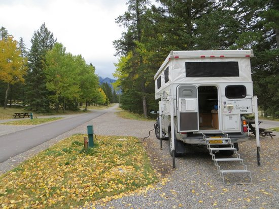 Tunnel Mountain Trailer Court Campground: Our view