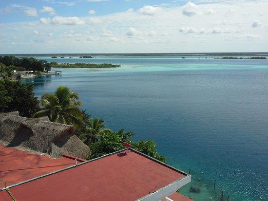 Hotel Laguna Bacalar: vue du toit