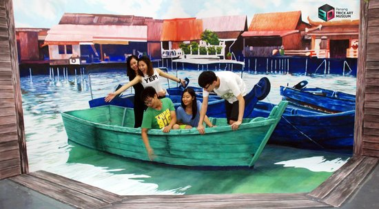 D Exhibition Penang : Clan jetty picture of penang d trick art museum george