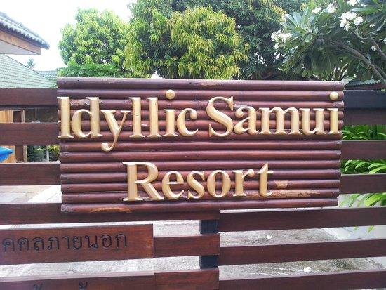 Idyllic Samui Oceanfront Resort & Villas: Front Gate