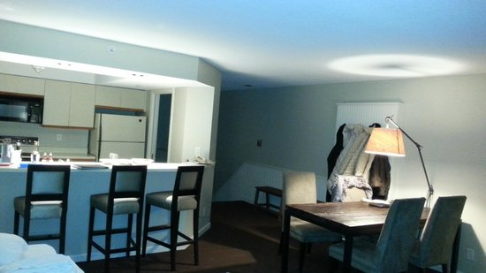 The Inns at Equinox: Contemporary townhouse rooms are functional and clean.