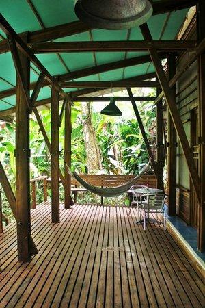 La Kukula Lodge : Decking outside of the room