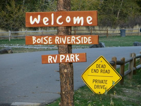 Boise Riverside RV Park More Signage In The