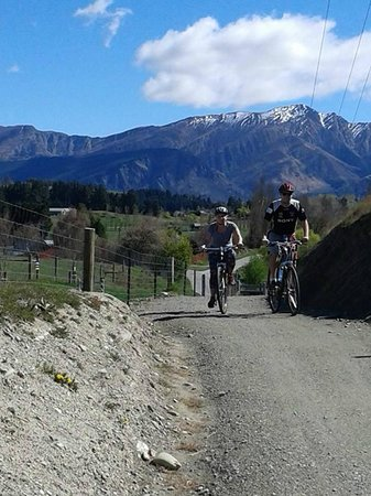 Arrowtown Bike Hire: Up the hill!