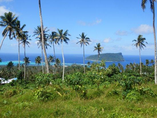 Lalomanu, ساموا: Looking back over Lalomanu