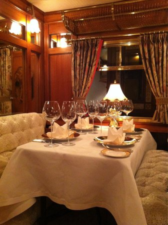 Orient Express: Beautiful tables