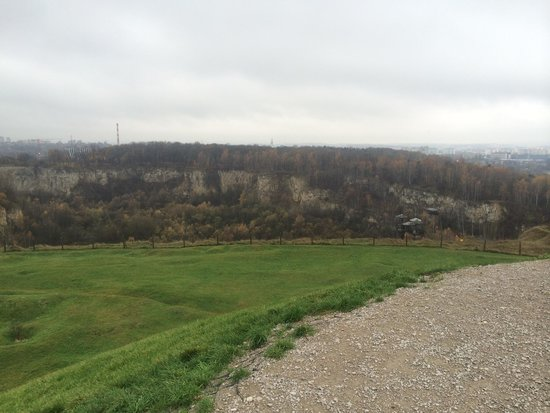 Krakus Mound: Old stone pit (closed after world war ||)