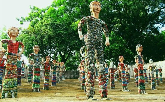 People's sculpture made from broken bangles - Picture of The Rock