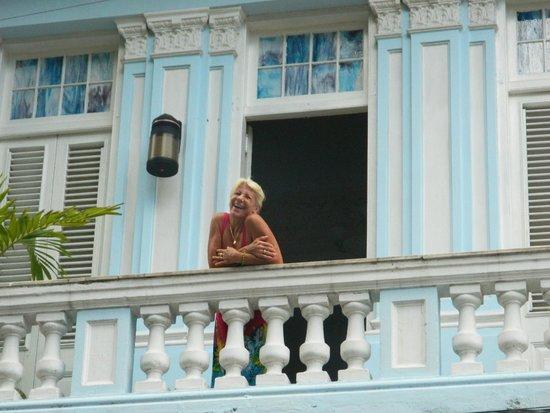 Carlos III Palace: KARY SUR SON BALCON