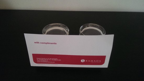 Ramada Iasi City Center: Something was supposed to be complimentary I guess, but there was nothing there