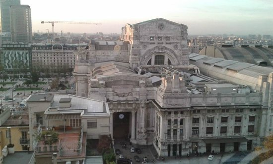 view of Milan Main station from the room