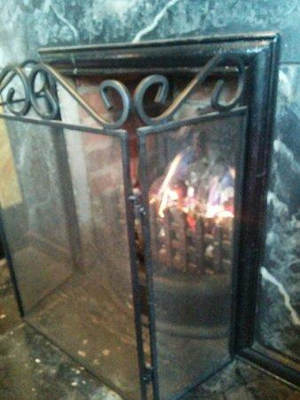 Nice warm fire.