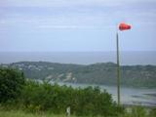 Cloud 9 Lookout: Wind sock for the paragliders