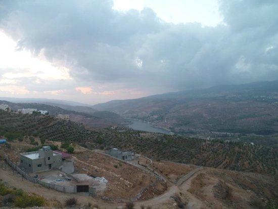 Ajlun Castle (Qala'at ar-Rabad) : Vue du haut du chateau