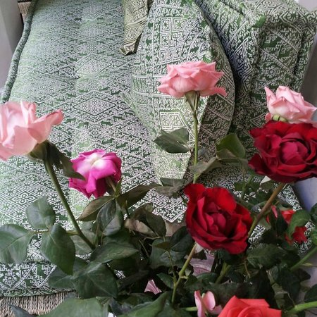 Chambres d'amis : roses in the riad