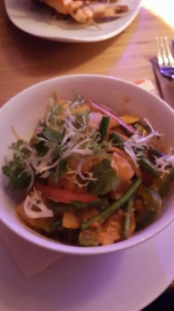 Majestic: Red curry prawn rice dish. Fantastic.