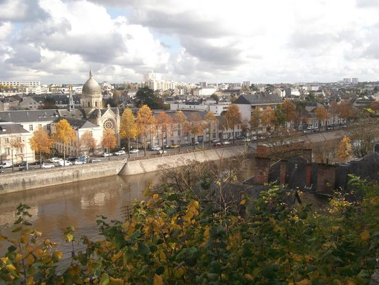 Jardin de la Perrine: View of the town