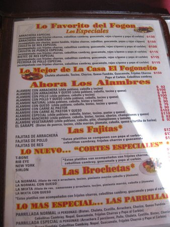 El Fogon: waiter was very helpful with ordering :)